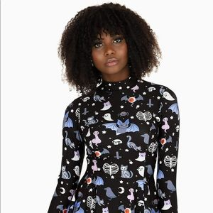 Black Milk Hauntingly Cute Skater Dress XXS